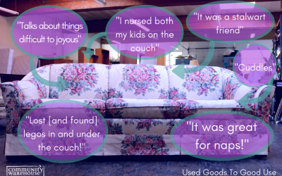 Every Piece Of Furniture Has A Story: The Purple Couch