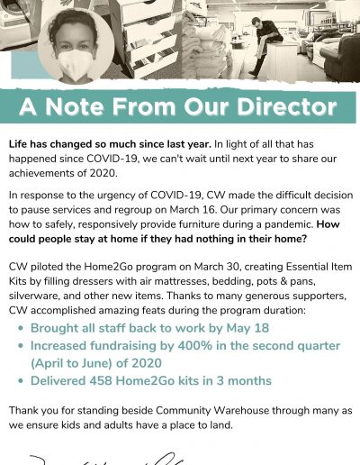 A Note From Our Director